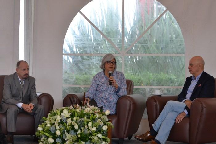 Dr. Stéphan Sberro, Dra. Graciela Márquez Colín y Dr. Arturo Fernández