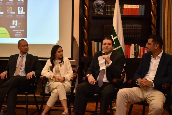 """Senador Mario Zamora en el panel """"México: de la opacidad a la transparencia. FOTO:ITAM"""