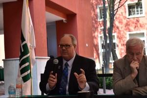 El Dr. Dennis Plane comenta sobre las futuras elecciones presidenciales ante la impugnación de Trump. FOTO: ITAM