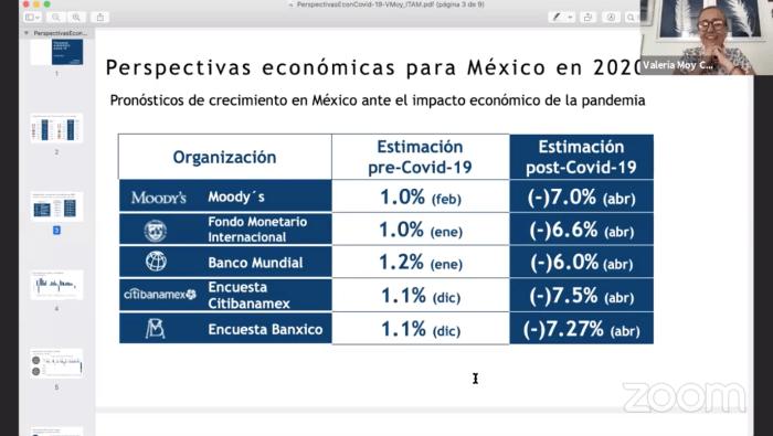 Perspectivas económicas para México en 2020 por Valeria Moy.