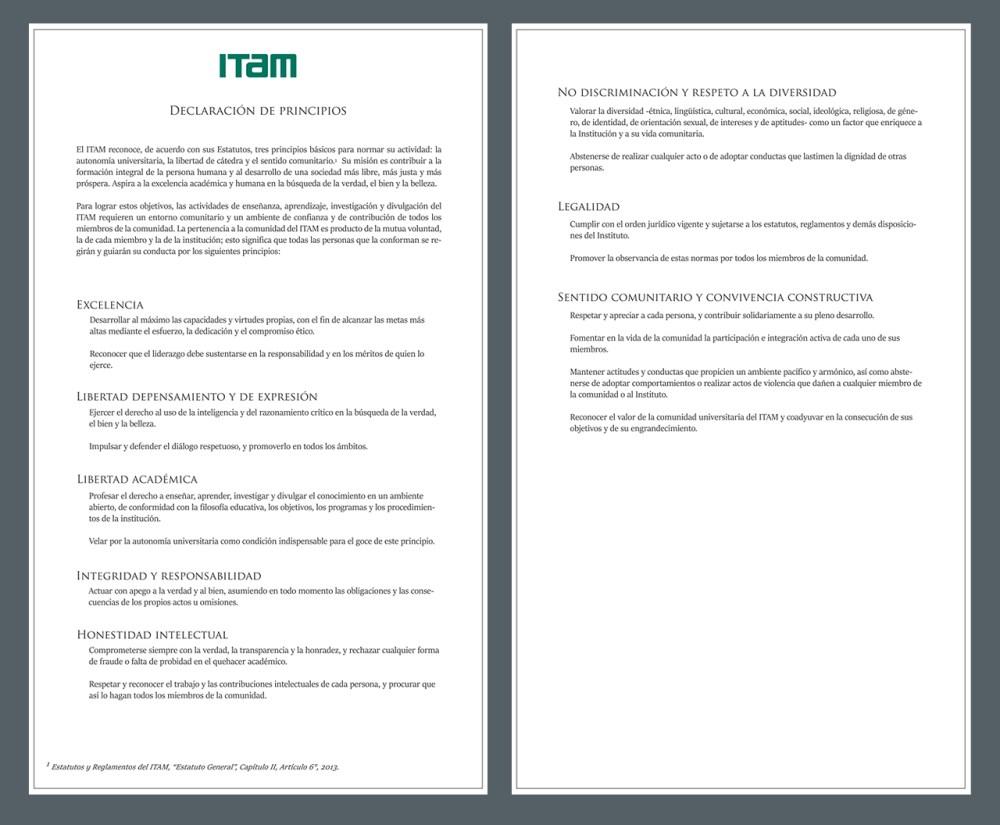 Declaración de Principios del ITAM