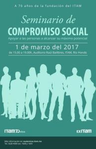 Póster del Seminario de Compromiso Social ITAM 2017