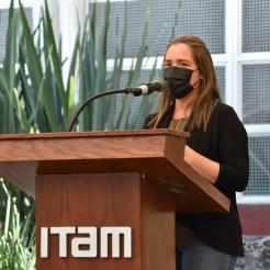 Laura Gómez Bienvenida a facultad al campus ITAM