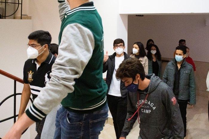 Los nuevos alumnos pudieron recorrer las instalaciones de la Institución. Foto ITAM.