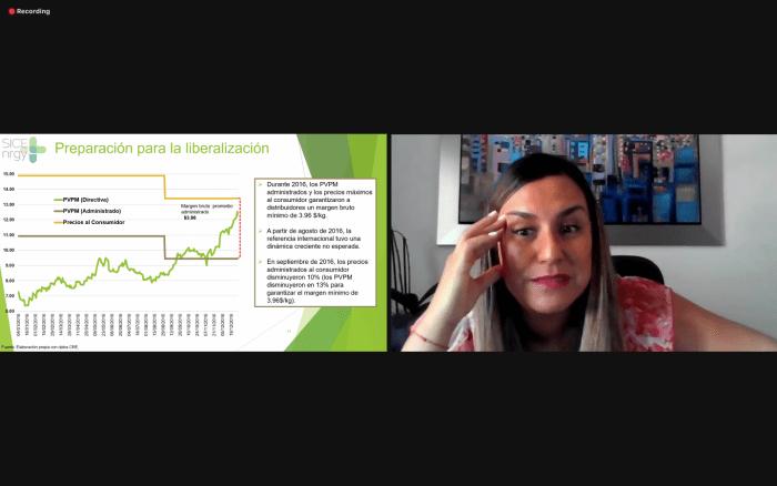 Susana Cazorla, exalumna del ITAM, explicó que Estados Unidos se ha posicionado como el principal productor y exportador de propano y butano. Foto ITAM.