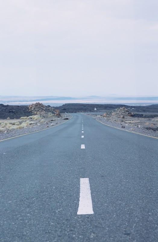 Carretera desértica - Canon EOS500N - Kodakchrome 100 día