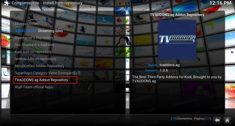 tv time en kodi. repositorio TVAddons