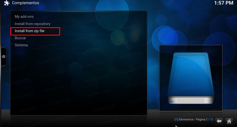 p2p sport en kodi. 3 Install from zip file