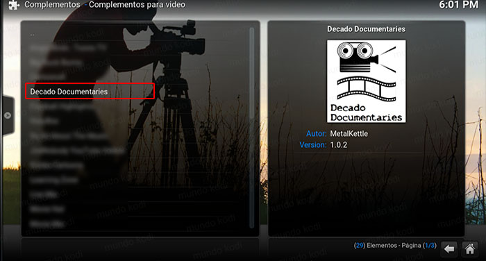 decado documentaries en kodi decado doc metal
