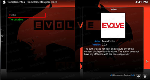 7 addon evolve en kodi