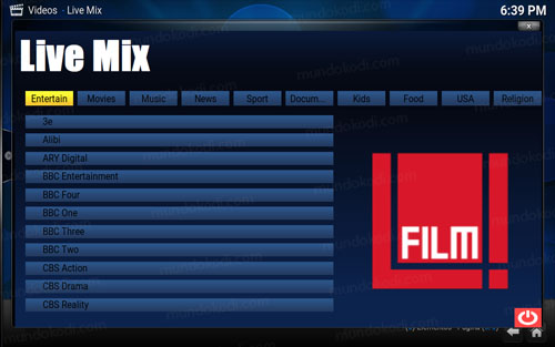 addon live mix en kodi 12-lista