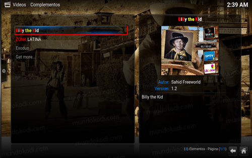 4-billy-the-kid addon billy the kid en kodi