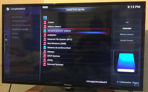 Pasar Addons al Amazon Fire TV