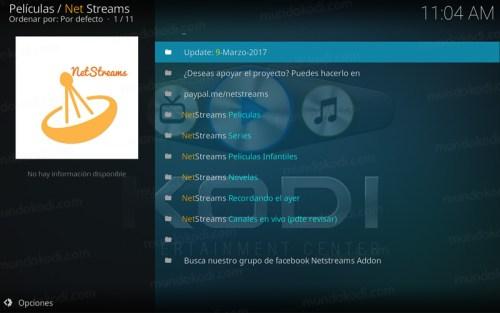 addon netstreams en Kodi