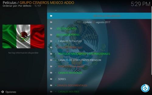 addon grupo mexico addon free en kodi