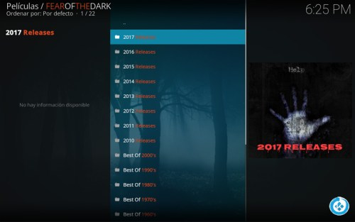 addon fear of the dark en kod
