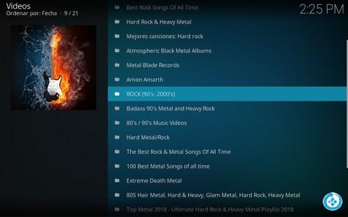 addon metal y hard rock en kodi