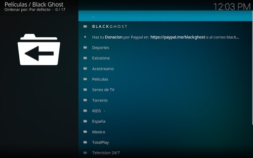 addon black ghost en kodi