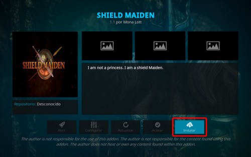 addon shield maiden en kodi
