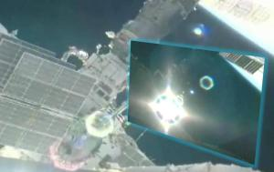 Luz brillante Visita la ISS