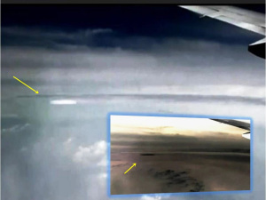 OVNI visto por pasajero de avión