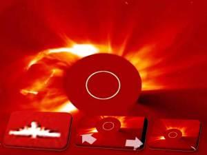 ¿OVNI? ¿Cometa? Volando al sol, octubre 2011