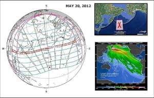 Eclipse 'anillo de fuego' anular solar el 20 de mayo 2012