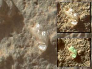 Anomalía translúcida en Marte vista por la Curiosity de la NASA