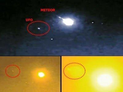 ¿OVNI destruye meteorito sobre Japón? 2013