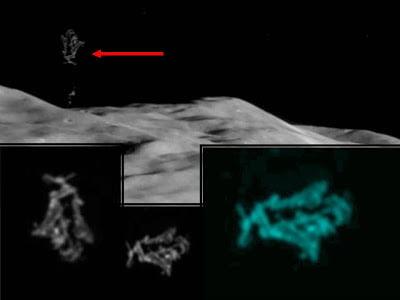 Objeto muy interesante sobre la superficie lunar – OVNI – 2013