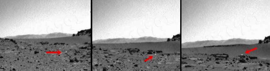 Curiosity graba objeto volando sobre la superficie de Marte
