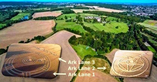 Últimos tres círculos de la cosecha en Ark Lane