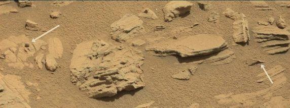 Esfera perfecta en las fotos del Curiosity y otras anomalías