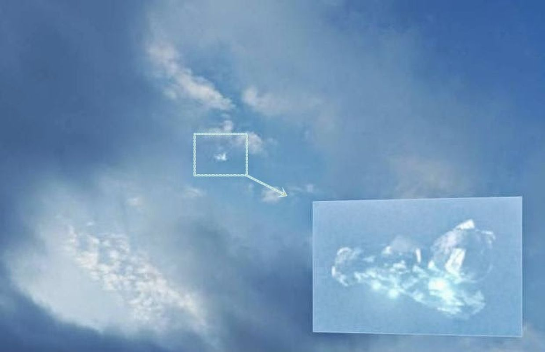 Extraña nube sobre Viena, Austria