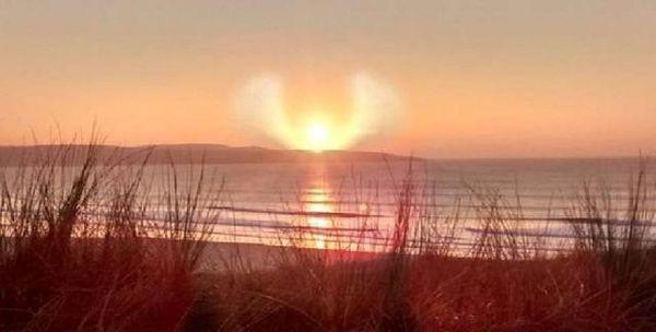 'Alas de ángel' en puesta de sol en Cornualles