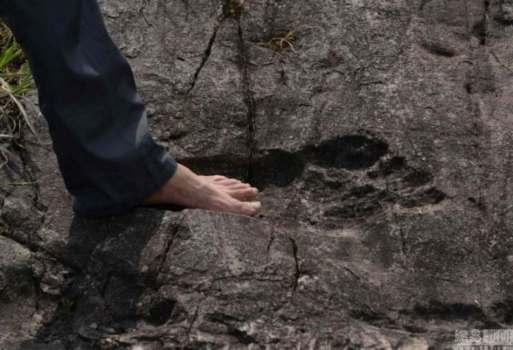 Huella de un antiguo humano gigante en China