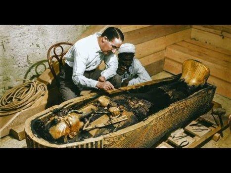 El descubrimiento de la tumba de Tutankamón a todo color