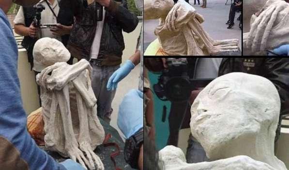 Antiguo cuerpo no humano descubierto en NAZCA