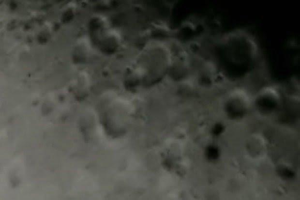 Vídeo revela OVNIs pasando por la luna