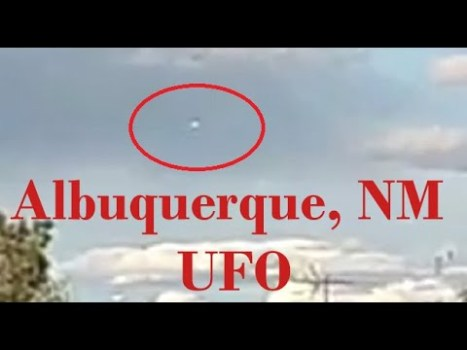 OVNI durante el día filmado en Albuquerque, Nuevo México 19-abr-2020