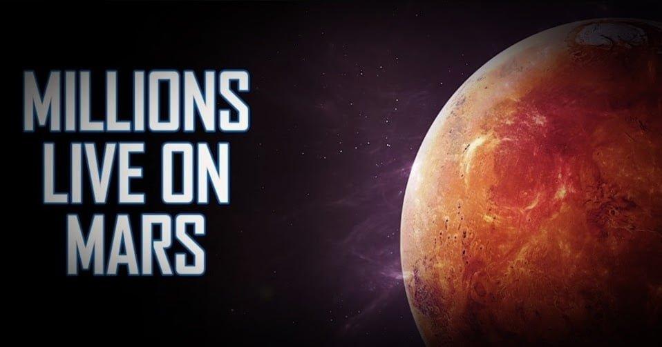 Varios millones de personas están en Marte, todas ellas parte de la colonia alemana escindida