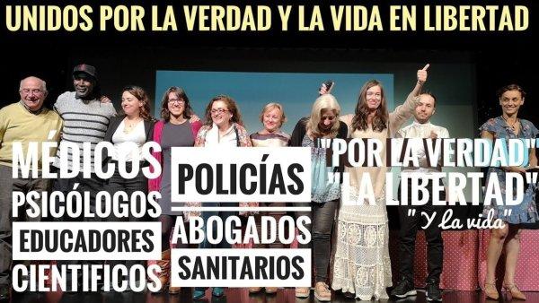"""Conferencia: """"UNIDOS POR LA VERDAD Y LA VIDA EN LIBERTAD"""" Rueda De Prensa Barcelona"""