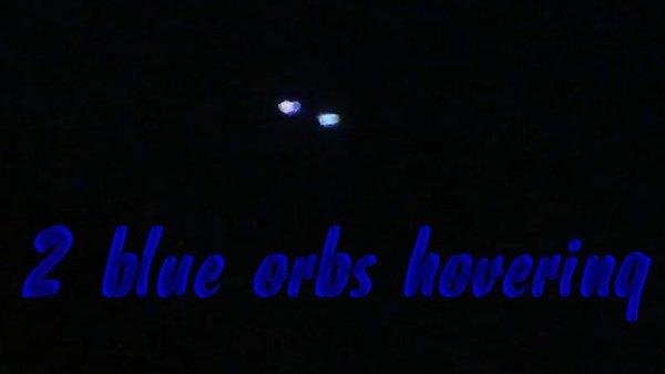 2 orbes azules filmados en Warminster, Reino Unido, 5 de octubre de 2020