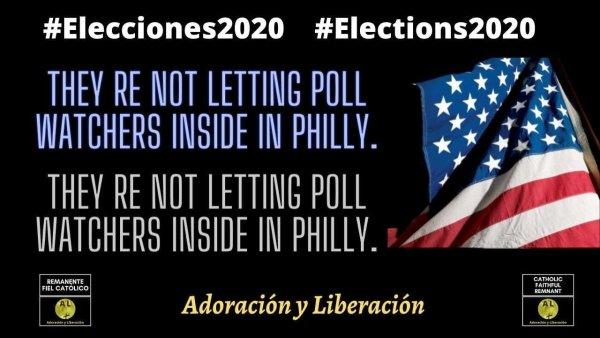 🇺🇸  EN VIVO! 🔴  No dejan entrar a los observadores de las encuestas en Filadelfia ✝️   Elections2020