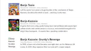 Títulos de Banjo Kazooie aparecen en Nintendo UK