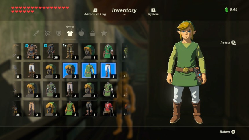 Link Zelda Breath of the Wild Nintendo Mundo N
