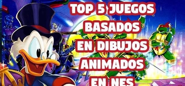 Top 5 juegos basados en dibujos animados para nes