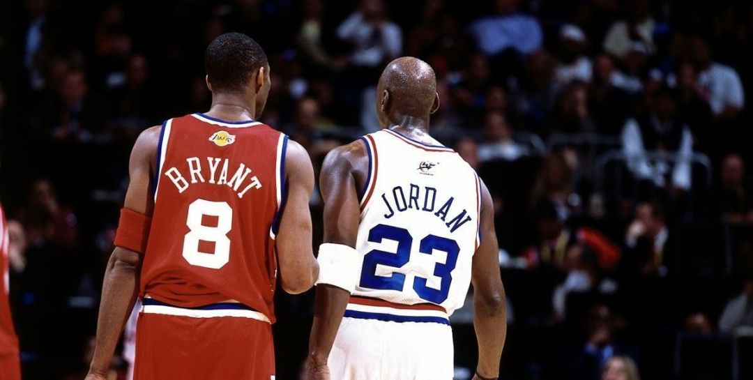 Kobe Bryant y Michael Jordan en el All Star