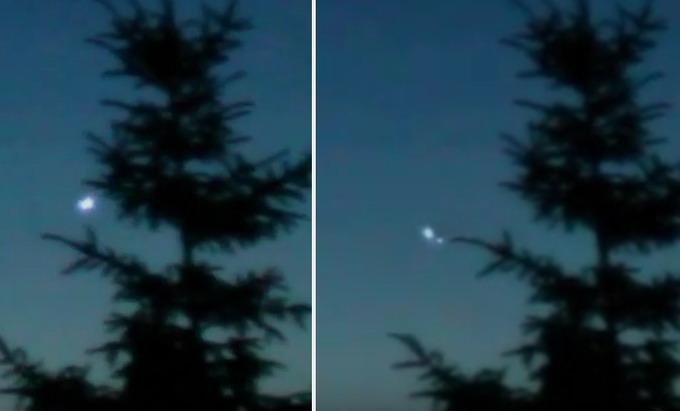 Captan en vídeo varios OVNIs sobre el bosque en Polonia