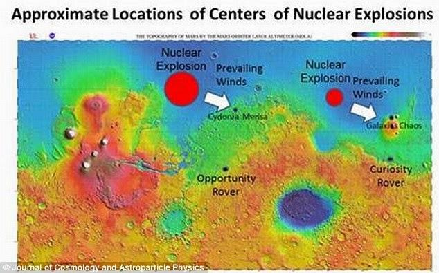 Científico afirma que la civilización que habitó Marte fue aniquilada por una raza extraterrestre que la atacó con armas nucleares